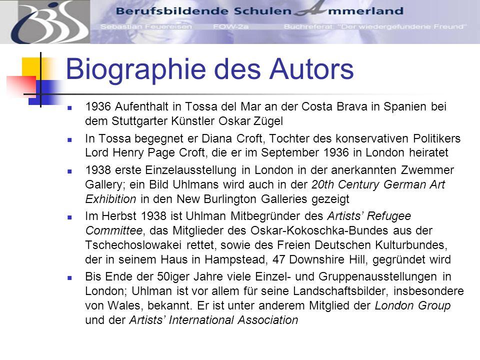 Biographie des Autors 1936 Aufenthalt in Tossa del Mar an der Costa Brava in Spanien bei dem Stuttgarter Künstler Oskar Zügel.