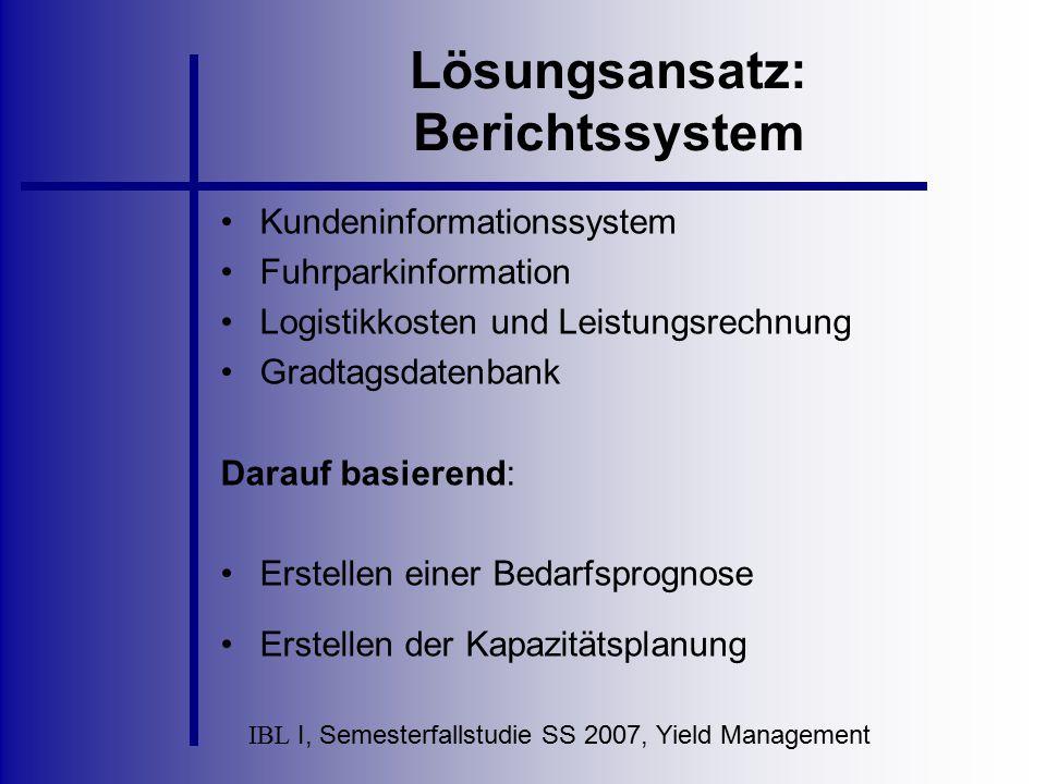 Lösungsansatz: Berichtssystem