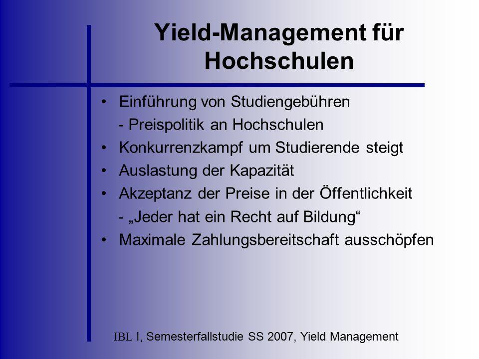 Yield-Management für Hochschulen