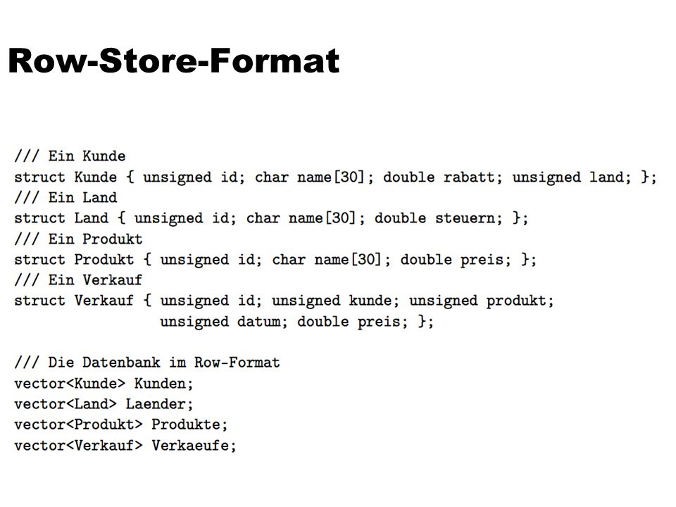 Row-Store-Format