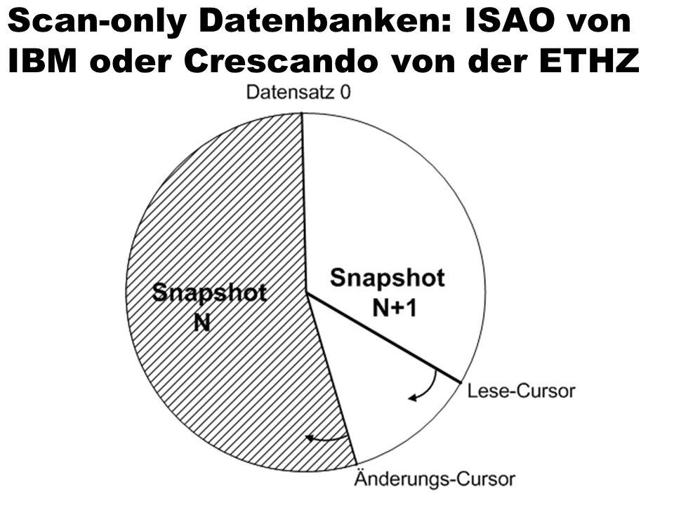 Scan-only Datenbanken: ISAO von IBM oder Crescando von der ETHZ