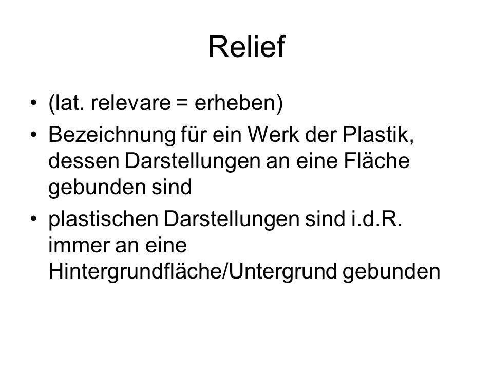 Relief (lat. relevare = erheben)