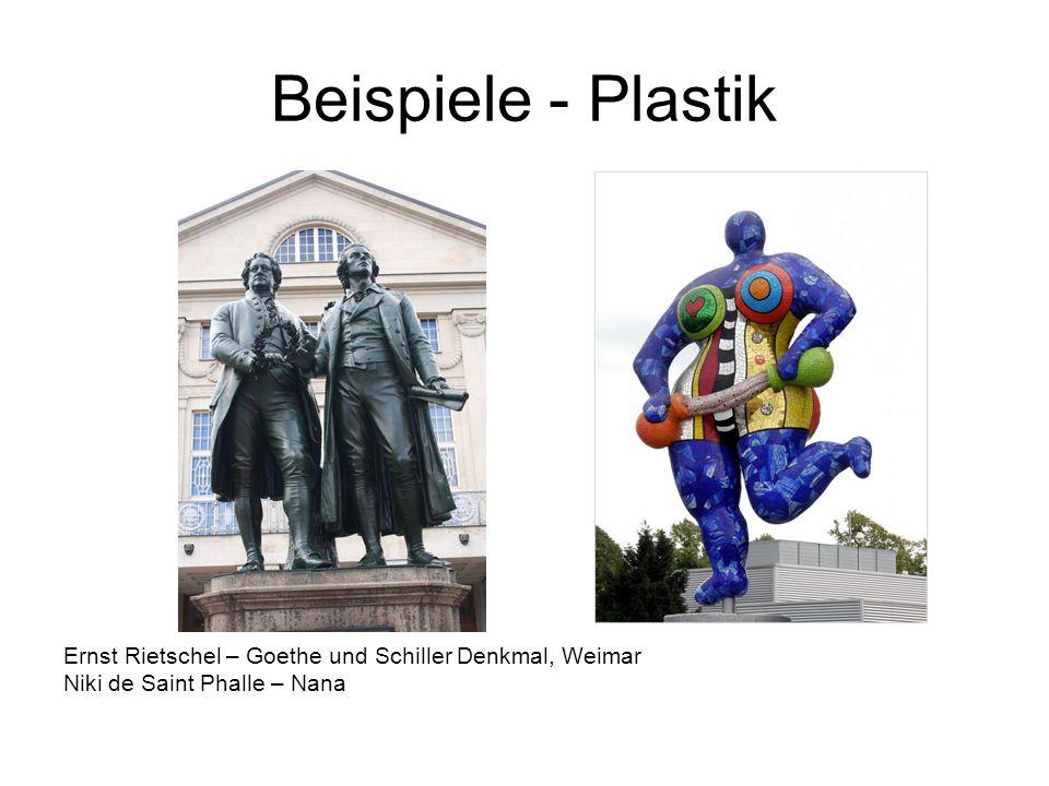 Beispiele - Plastik Ernst Rietschel – Goethe und Schiller Denkmal, Weimar.
