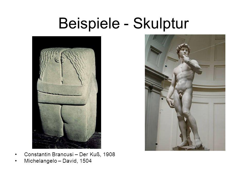 Beispiele - Skulptur Constantin Brancusi – Der Kuß, 1908