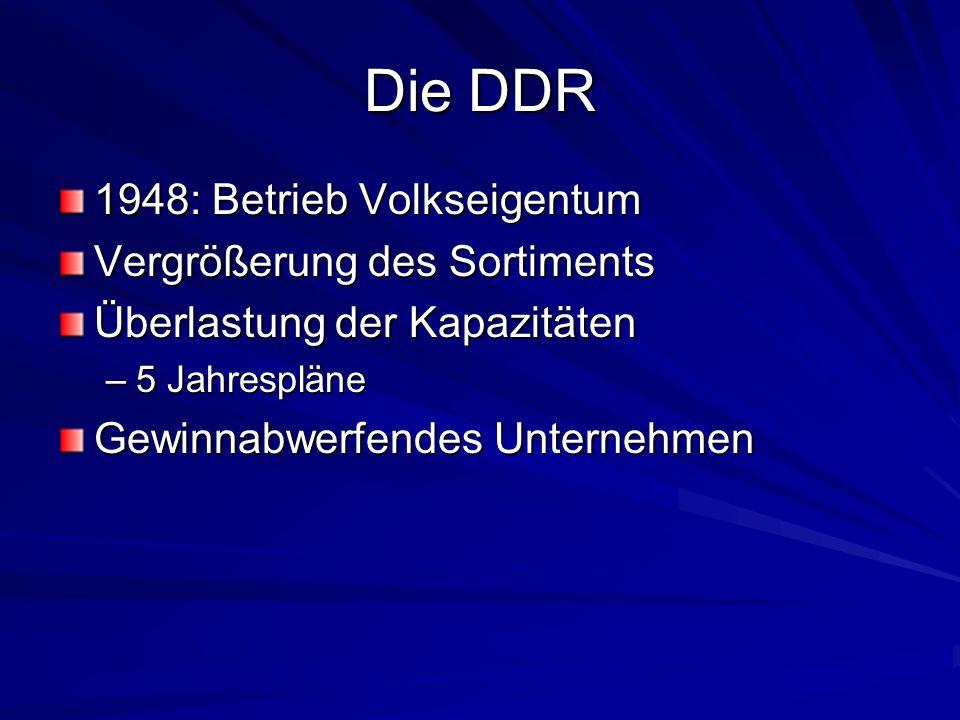 Die DDR 1948: Betrieb Volkseigentum Vergrößerung des Sortiments