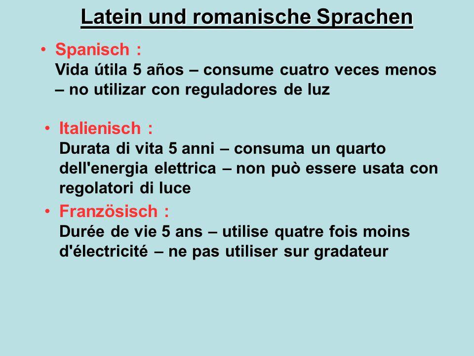 Latein und romanische Sprachen