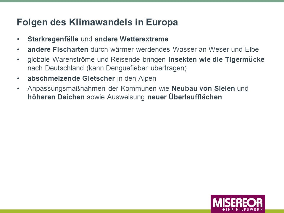 Folgen des Klimawandels in Europa