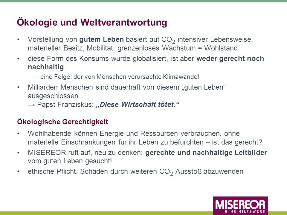 Ökologie und Weltverantwortung