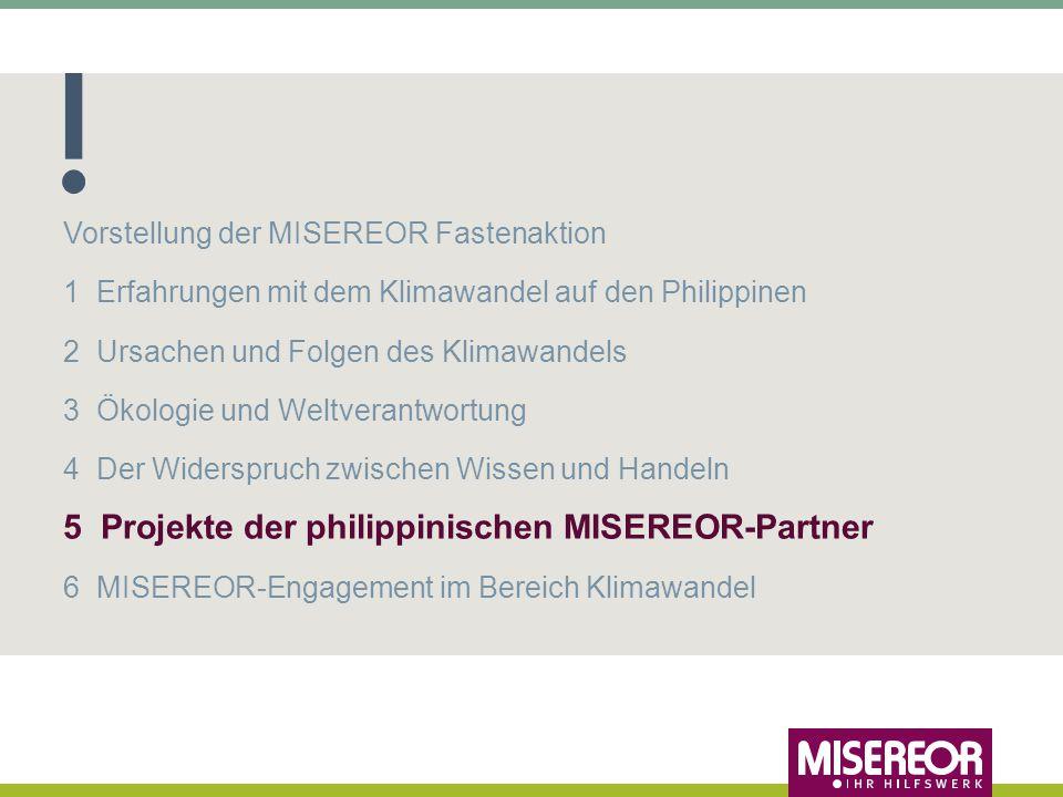 5 Projekte der philippinischen MISEREOR-Partner