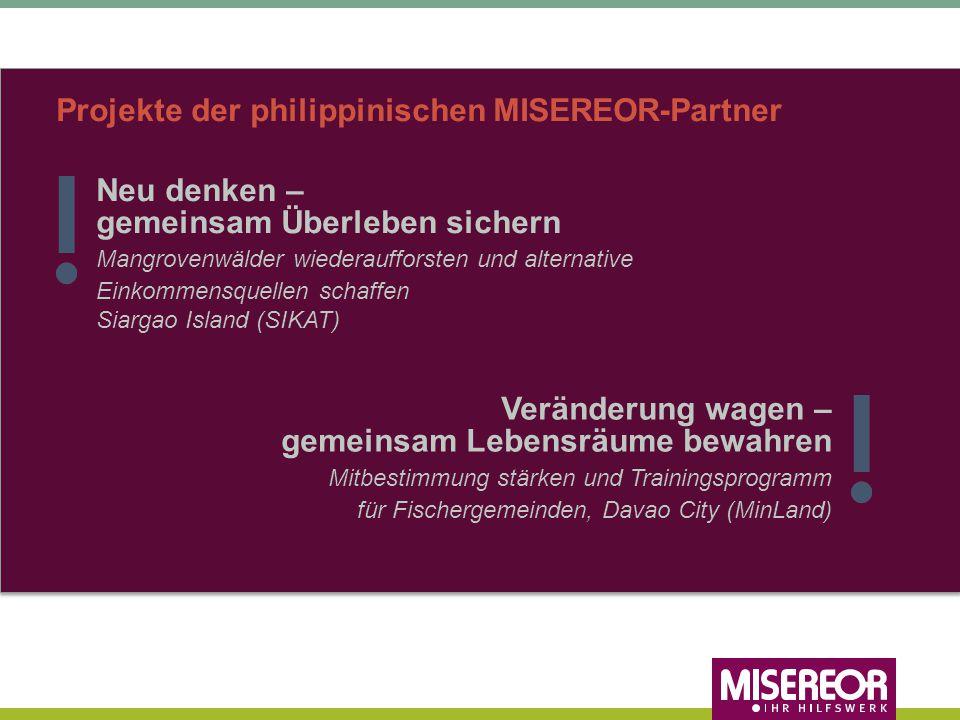 Projekte der philippinischen MISEREOR-Partner