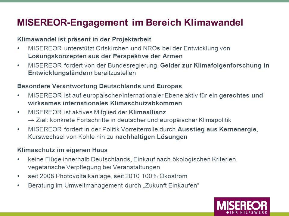 MISEREOR-Engagement im Bereich Klimawandel