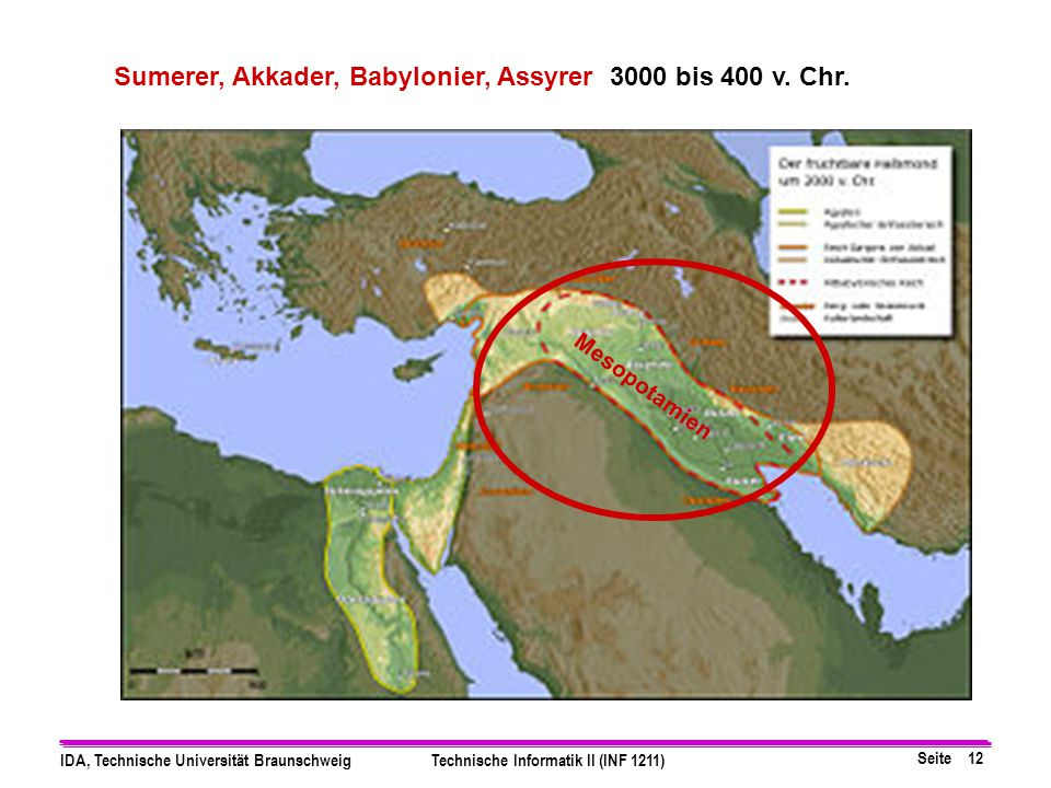 Sumerer, Akkader, Babylonier, Assyrer 3000 bis 400 v. Chr.