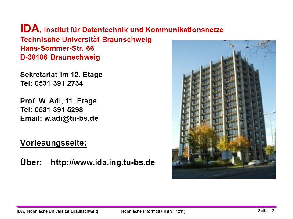 Vorlesungsseite: Über: http://www.ida.ing.tu-bs.de