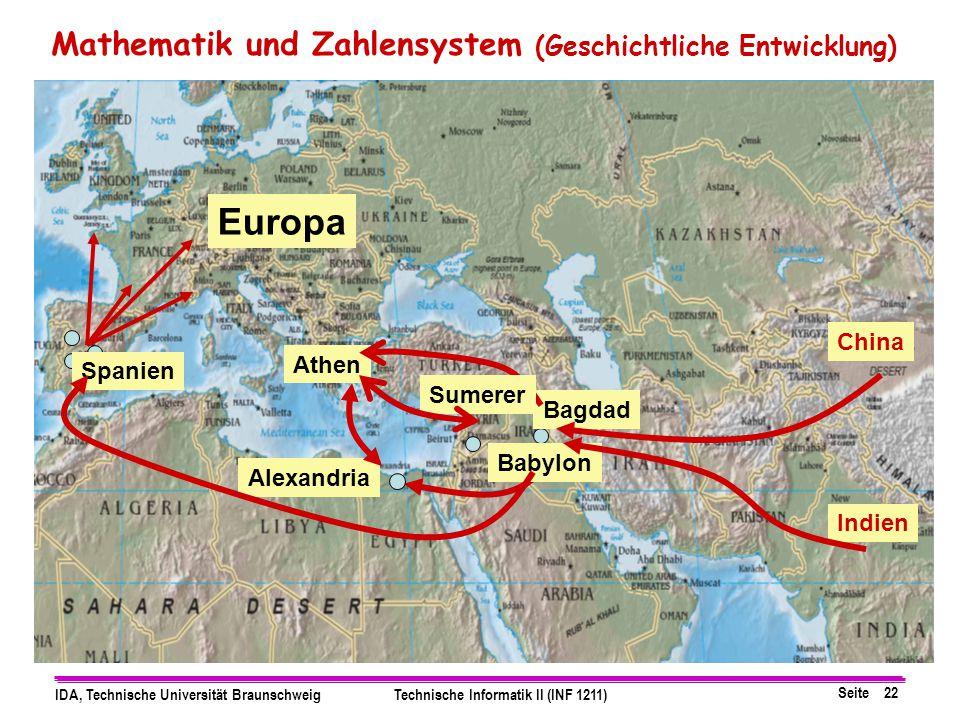 Europa Mathematik und Zahlensystem (Geschichtliche Entwicklung) China