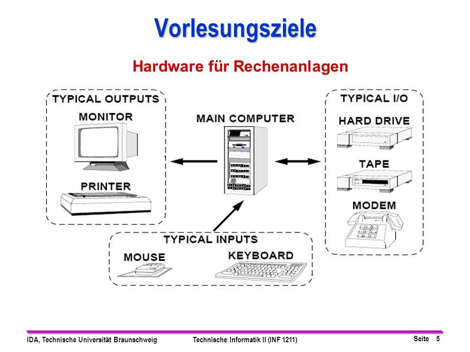 Vorlesungsziele Hardware für Rechenanlagen