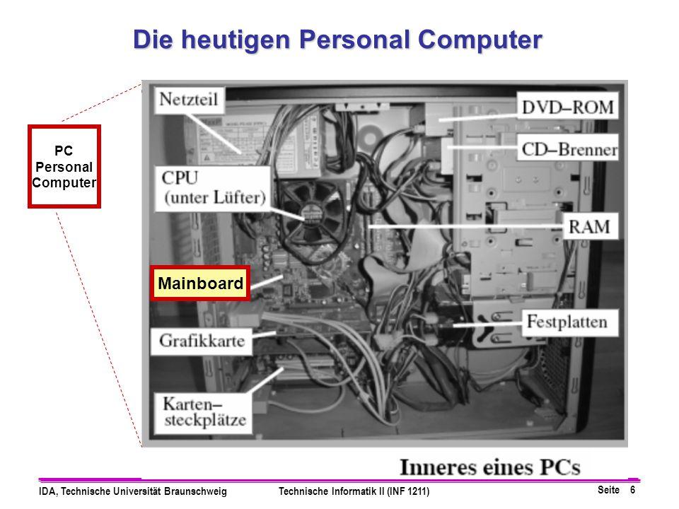 Die heutigen Personal Computer