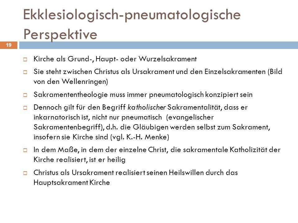 Ekklesiologisch-pneumatologische Perspektive
