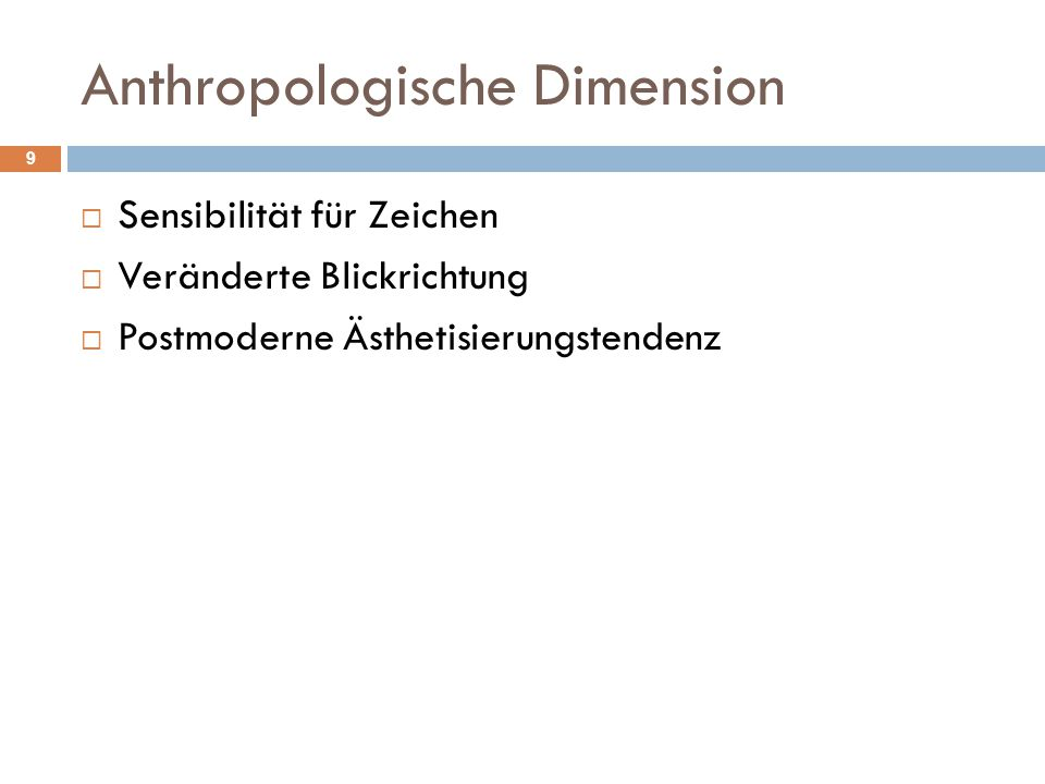 Anthropologische Dimension