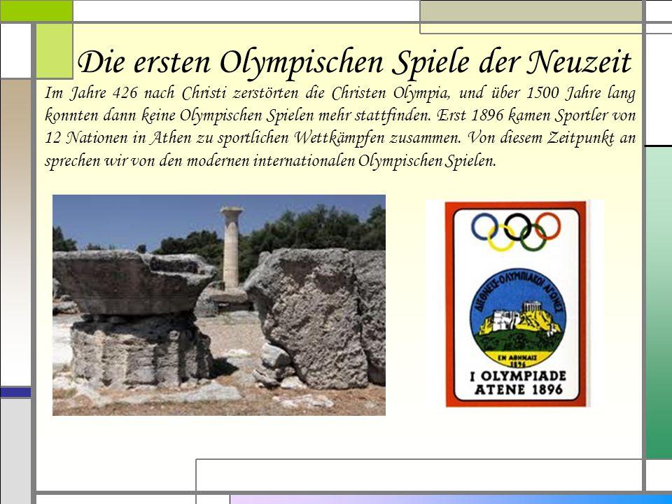Die ersten Olympischen Spiele der Neuzeit