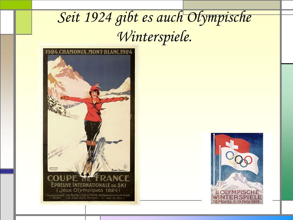 Seit 1924 gibt es auch Olympische Winterspiele.