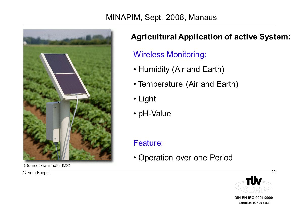 Agricultural Application of active System: