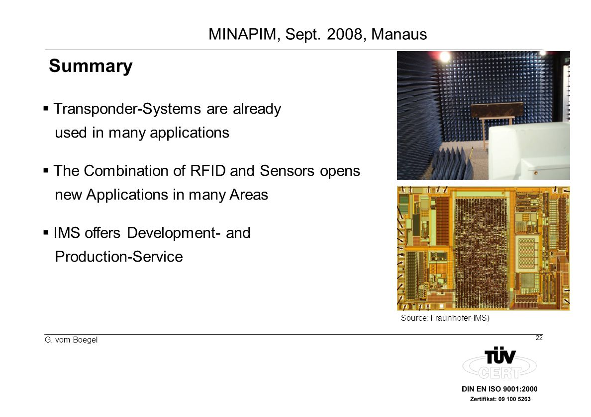 Summary Transponder-Systems are already used in many applications