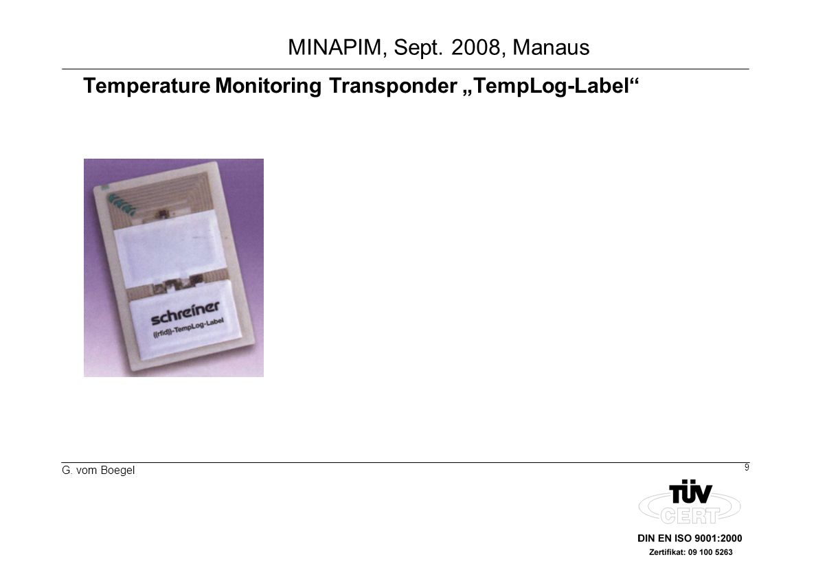 "Temperature Monitoring Transponder ""TempLog-Label"