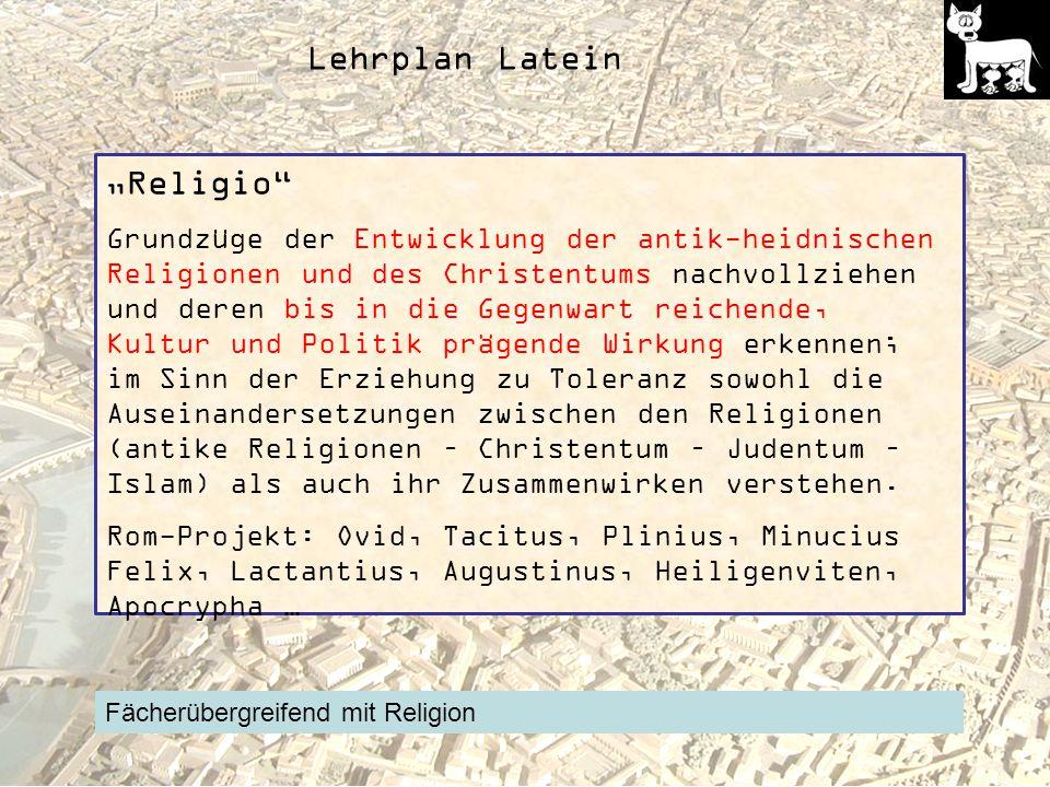 "Lehrplan Latein ""Religio"