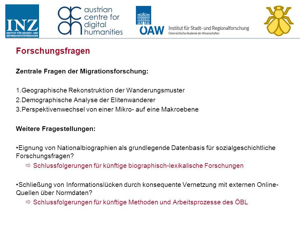 Forschungsfragen Zentrale Fragen der Migrationsforschung: