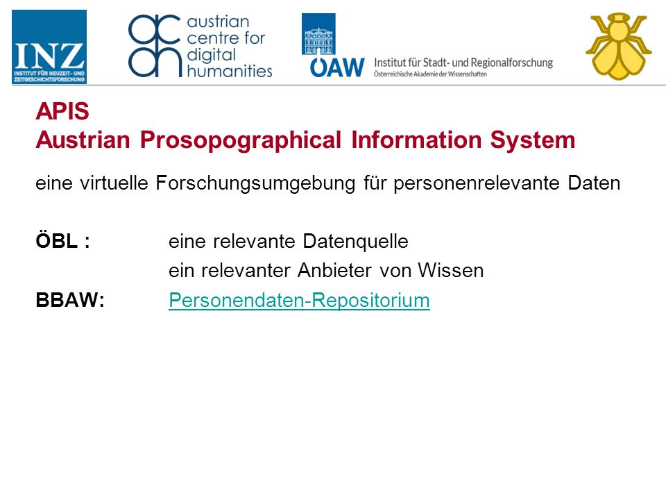 APIS Austrian Prosopographical Information System