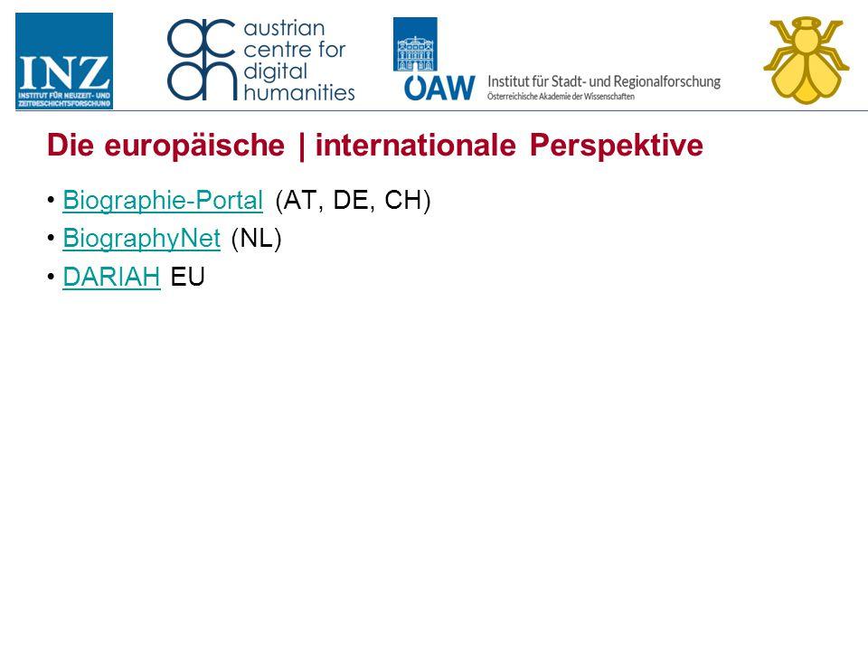 Die europäische | internationale Perspektive