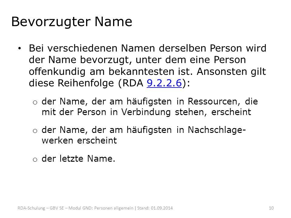 Bevorzugter Name
