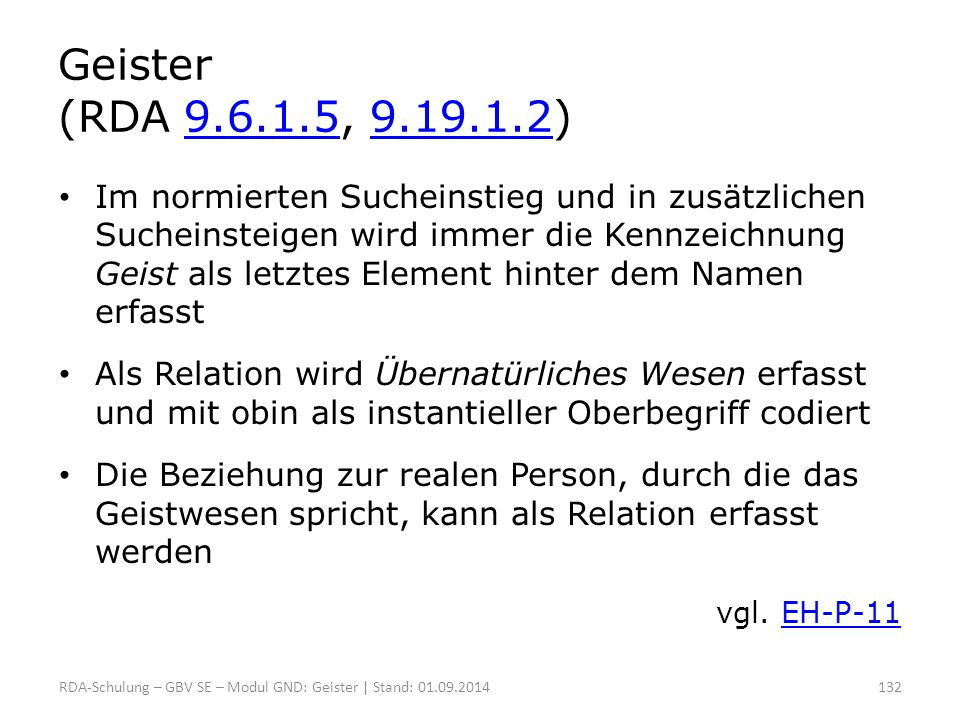 Geister (RDA 9.6.1.5, 9.19.1.2)