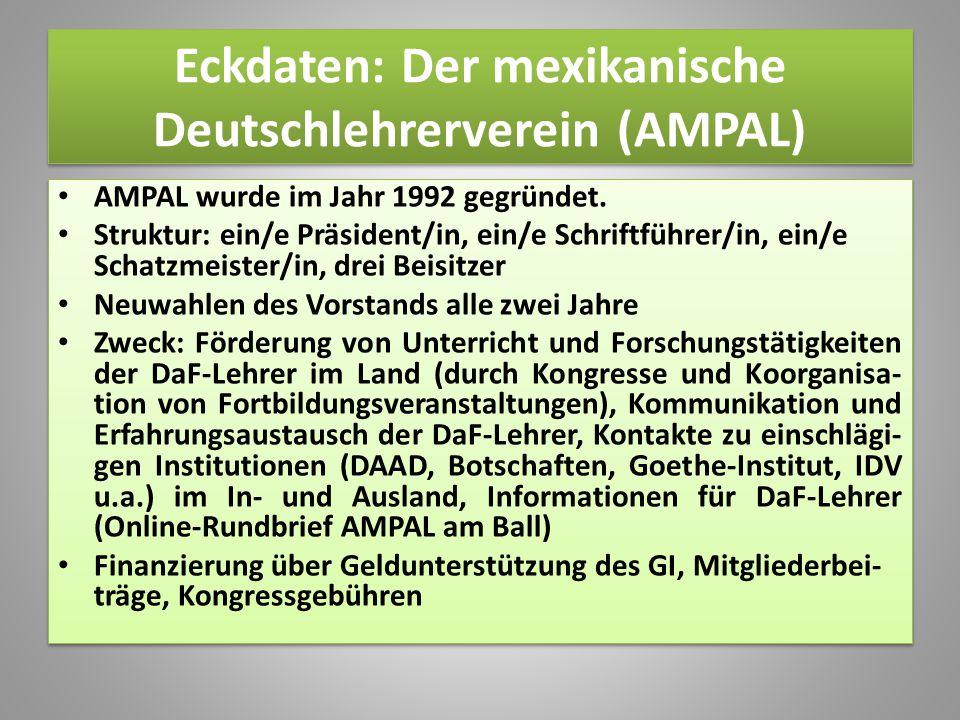 Eckdaten: Der mexikanische Deutschlehrerverein (AMPAL)