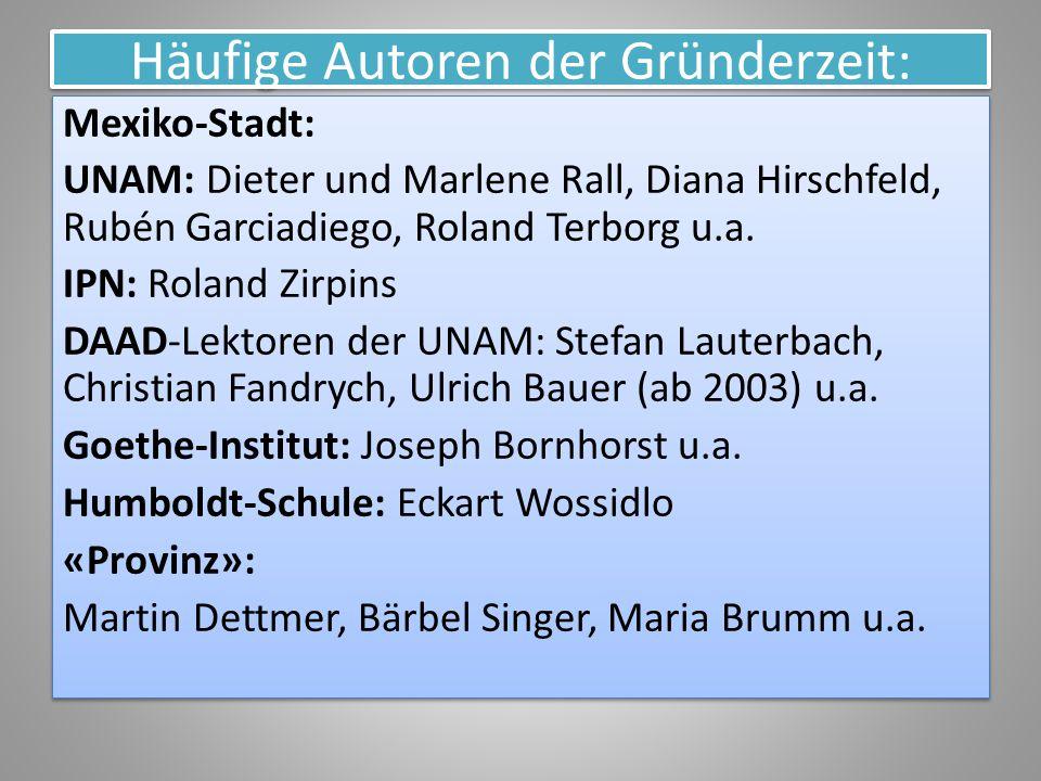 Häufige Autoren der Gründerzeit: