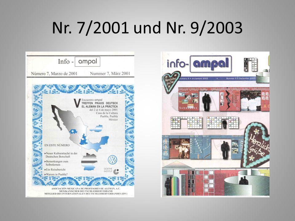Nr. 7/2001 und Nr. 9/2003