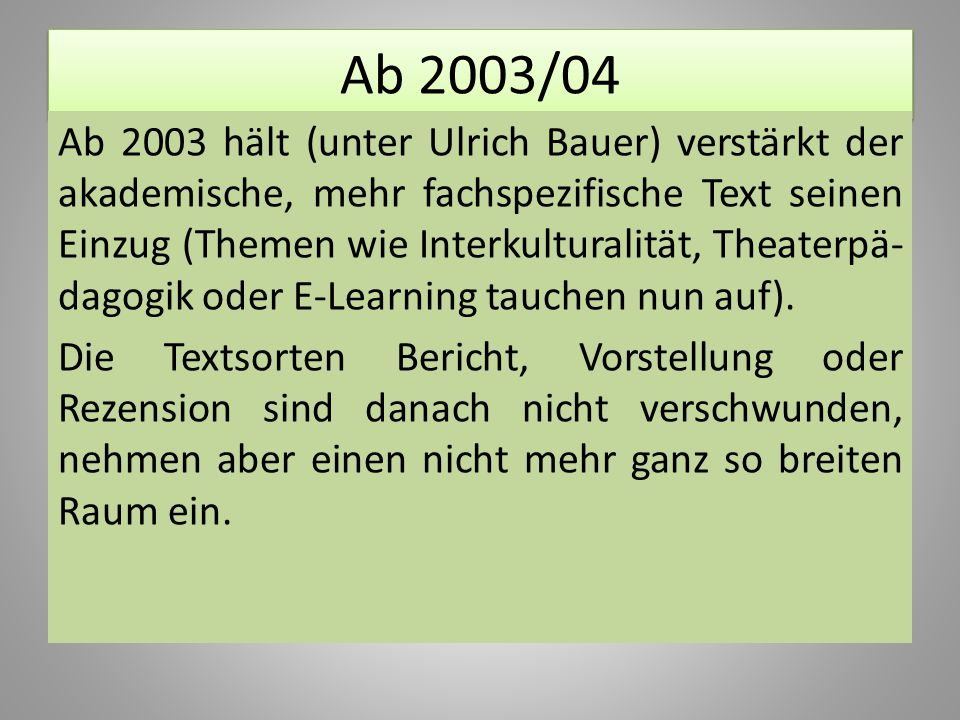 Ab 2003/04