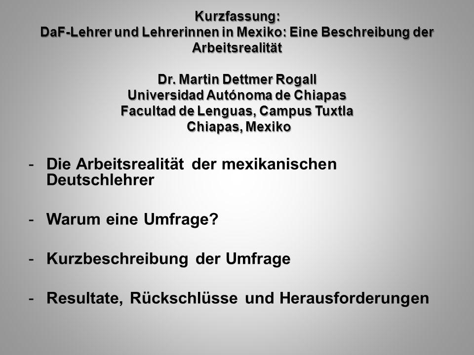 Die Arbeitsrealität der mexikanischen Deutschlehrer