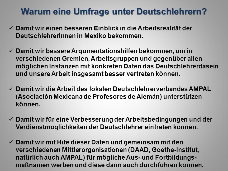 Warum eine Umfrage unter Deutschlehrern