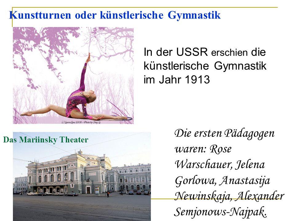 Kunstturnen oder künstlerische Gymnastik