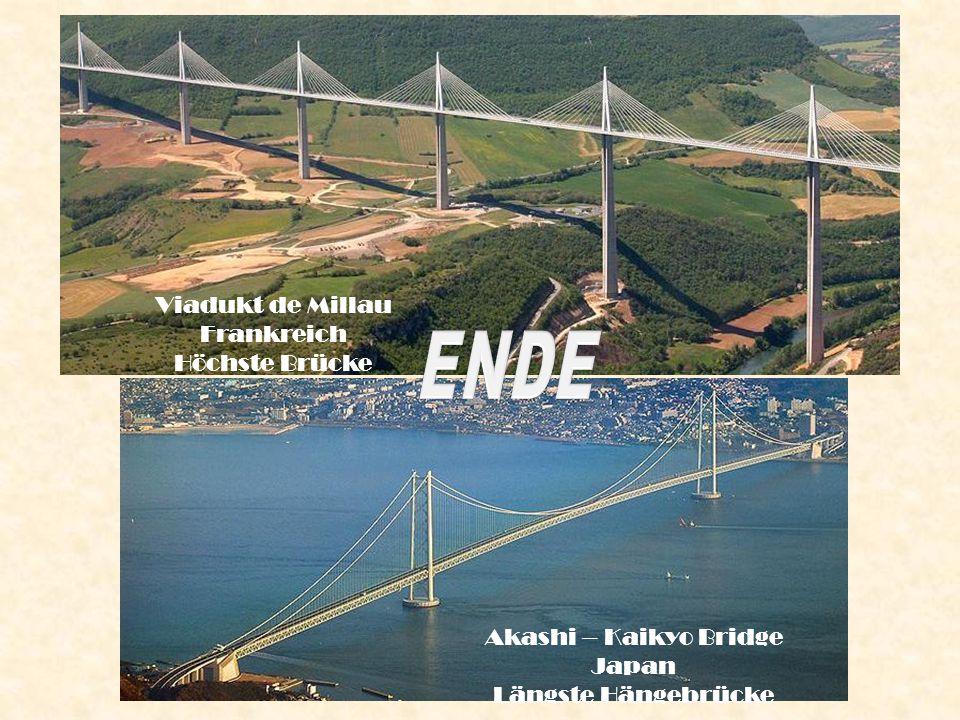ENDE Viadukt de Millau Frankreich Höchste Brücke