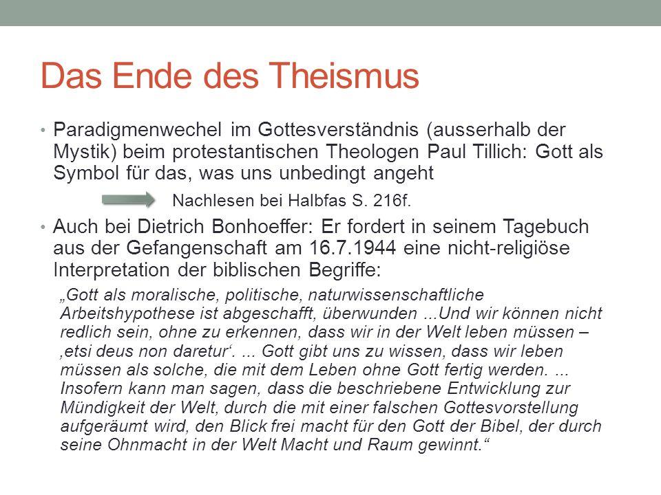 Das Ende des Theismus