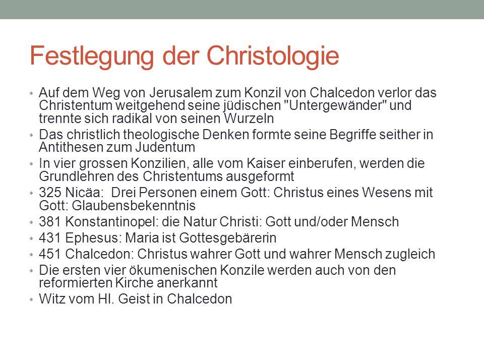 Festlegung der Christologie