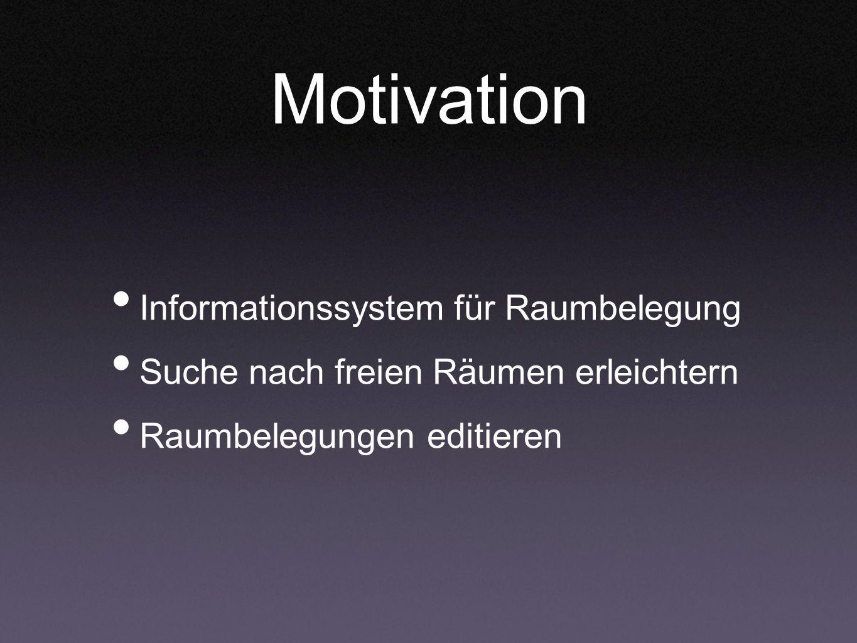 Motivation Informationssystem für Raumbelegung