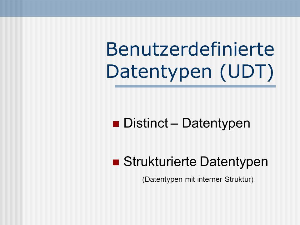 Benutzerdefinierte Datentypen (UDT)