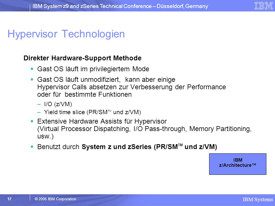 Hypervisor Technologien
