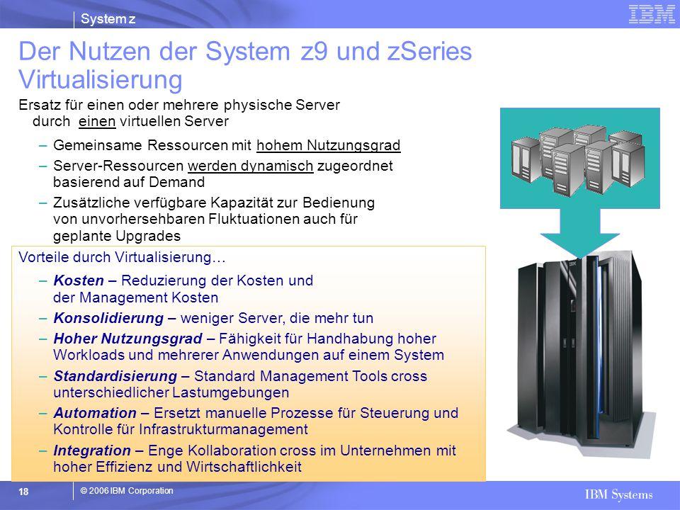 Der Nutzen der System z9 und zSeries Virtualisierung