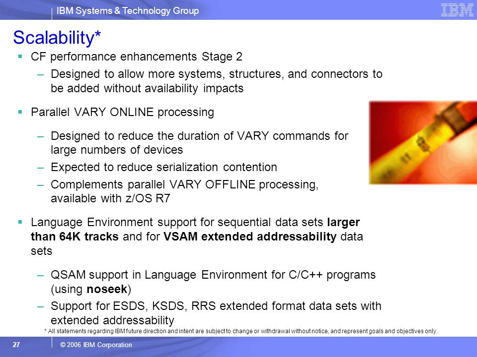 Scalability* CF performance enhancements Stage 2