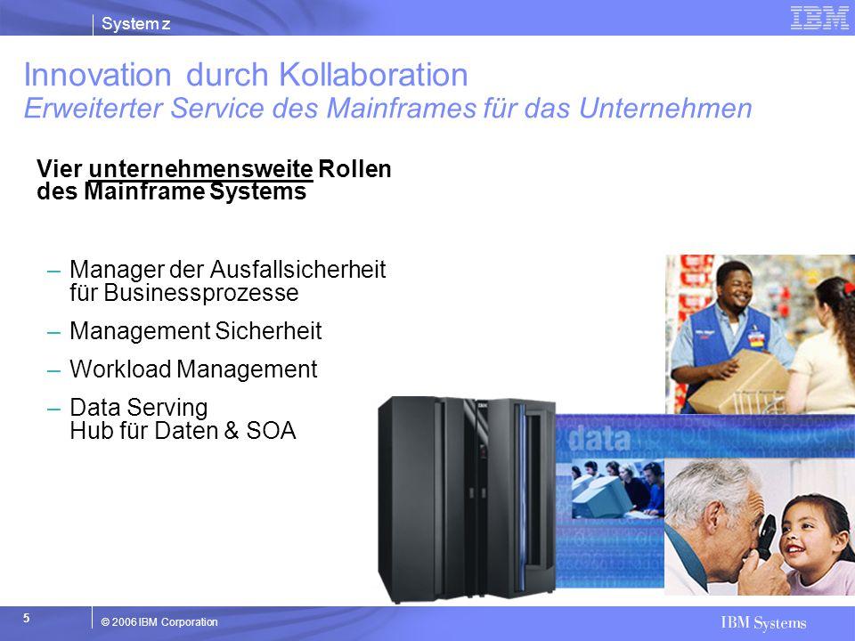 Innovation durch Kollaboration Erweiterter Service des Mainframes für das Unternehmen