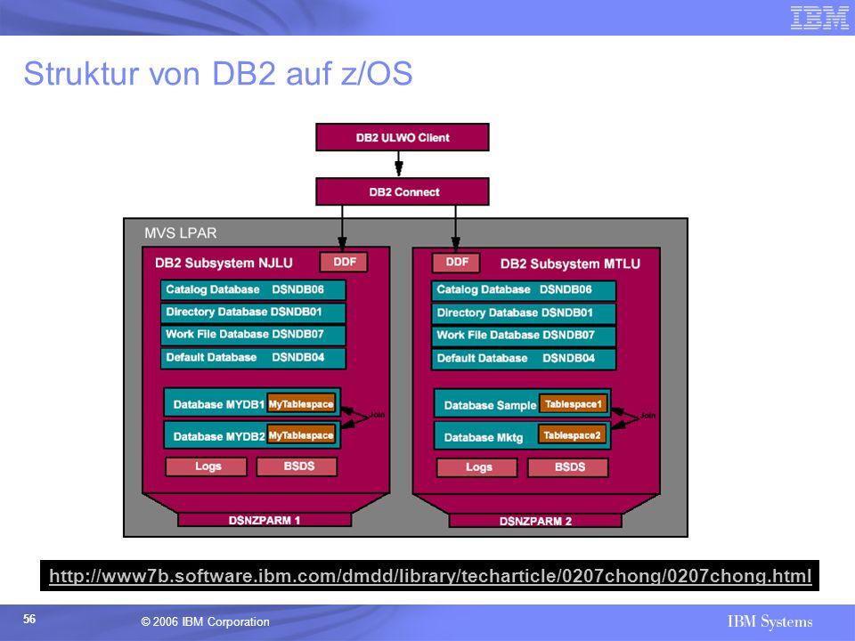 Struktur von DB2 auf z/OS